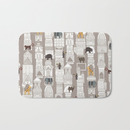 urban jungle pebble Bath Mat