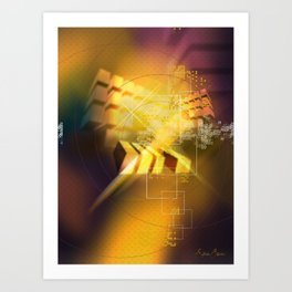 Cubic Blur Art Print