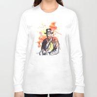 indiana jones Long Sleeve T-shirts featuring Indiana Jones by idillard