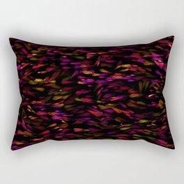 Glowing Jewel Paint Flecks Rectangular Pillow