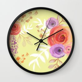 Floral Baby Wall Clock