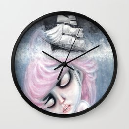 Underwater Hurt Wall Clock