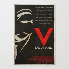 They Should Be Afraid - Vendetta Poster Canvas Print