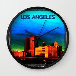 LA on a Dark Day (The Dark Side of Art) by Jeronimo Rubio Photography 2016 Wall Clock