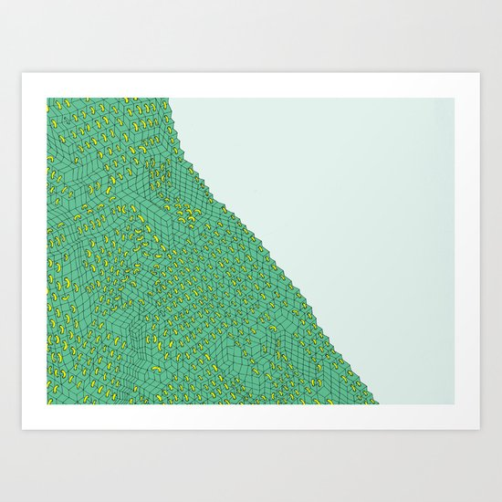 from the series block and tube Art Print