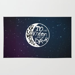 I LOVE YOU to the MOON and BACK! Rug