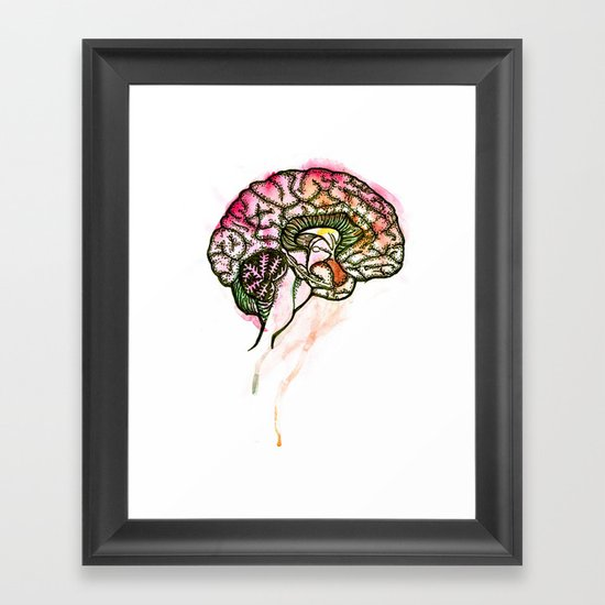 Brain. Framed Art Print