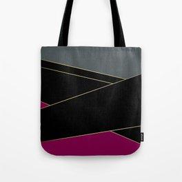 Angelica . Burgundy , gray , black Tote Bag