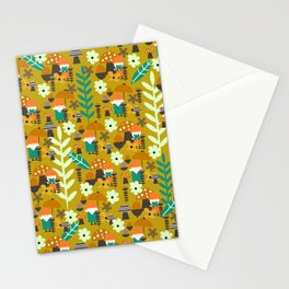 Autumn gnome garden Stationery Cards