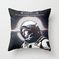 interstellar Throw Pillows featuring interstellar by Saalk
