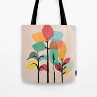 tropical Tote Bags featuring Tropical Groove by Picomodi