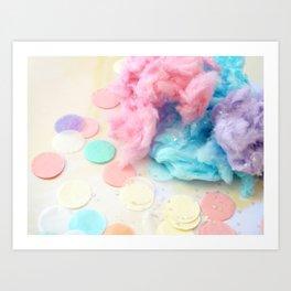 Confetti And Cotton Candy Art Print