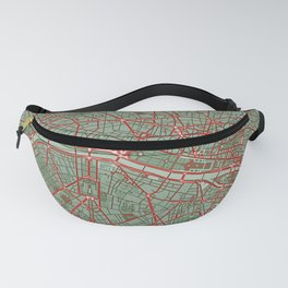 Paris city map pop Fanny Pack
