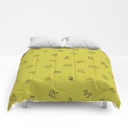 Yellow Monster Pattern Comforters
