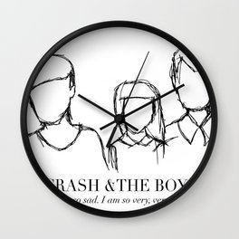 Crash & The Boys (updated) Wall Clock