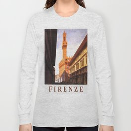 Vintage Florence Italy Travel Long Sleeve T-shirt
