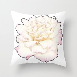 Pale Rose Throw Pillow