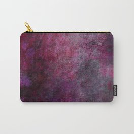 Magenta and Black Abstract Carry-All Pouch