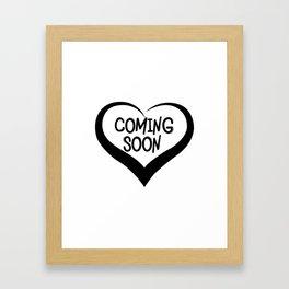 Coming Soon Pregnancy Announcement Gift Framed Art Print