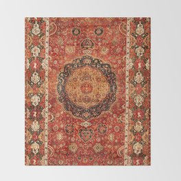 Seley 16th Century Antique Persian Carpet Throw Blanket