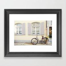 Retro bike Framed Art Print