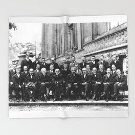 World-Renowned Physicists of 1927 at Solvay Conference Throw Blanket