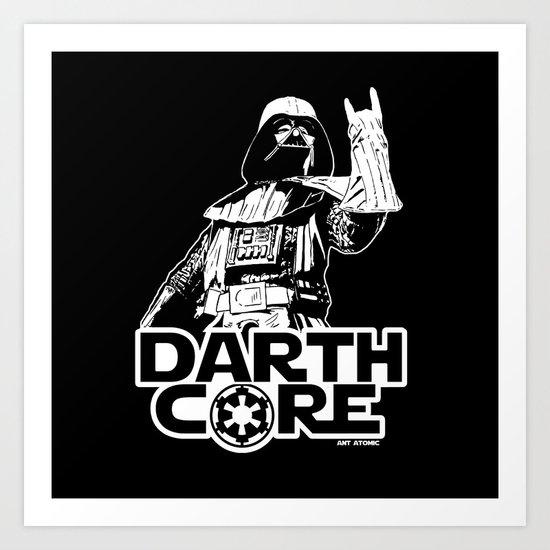 Darthcore Art Print