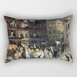 George Bellows - Cliff Dwellers Rectangular Pillow