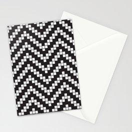 Herringbone Weave Seamless Pattern. Stationery Cards