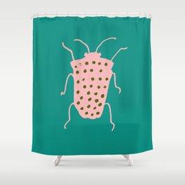arthropod teal Shower Curtain