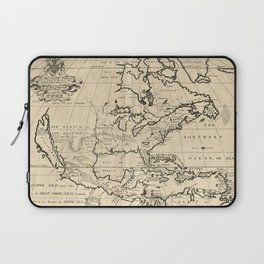 North America Map (1722) Laptop Sleeve