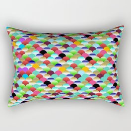 Rainbow Scallops Rectangular Pillow