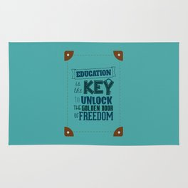 Lab No. 4 Education Is the Key George Washington Carver Inspirationa Quote Rug