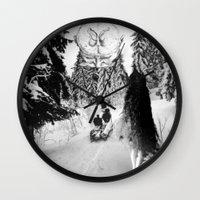pagan Wall Clocks featuring Pagan forest by Kristina Haritonova