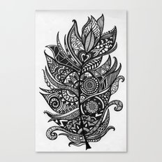 Zen Tangle Feather Canvas Print