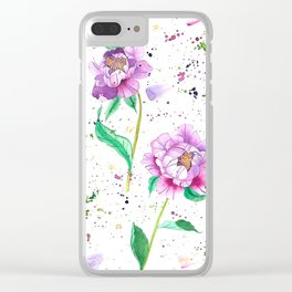 Flowers 1 Clear iPhone Case