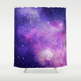 Space Nebula Galaxy Stars Shower Curtain