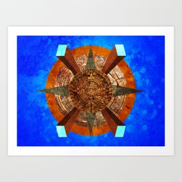 Silly Mayans Art Print