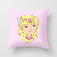 the legend of zelda Throw Pillows featuring  Zelda  by HypersVE