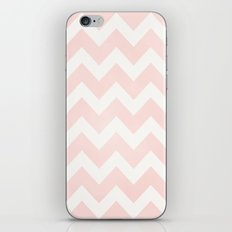 Pink Coral Chevron iPhone Skin