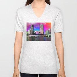 Rainbow City Unisex V-Neck