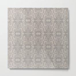 Mascara Vertical Lace Metal Print