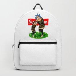 Rick Morty Supreme Bape Backpack