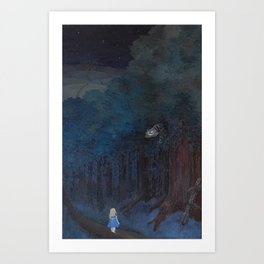A Walk in Tulgey Wood Art Print