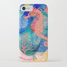 Seahorse collage Slim Case iPhone 7