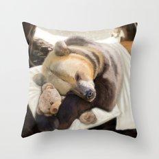 Sweet dreams, Mr Bear Throw Pillow