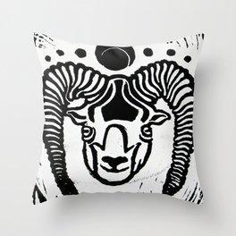 Mystical Goat Throw Pillow