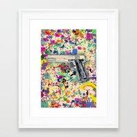 gun Framed Art Prints featuring Gun by Maressa Andrioli