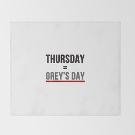 Grey's Day Throw Blanket
