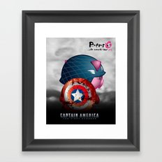 Berto: The Mental-issue pig as Captain America Framed Art Print